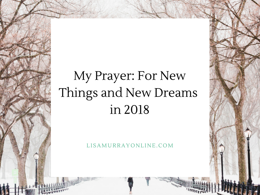 My Prayer For New Things and New Dreams in 2018