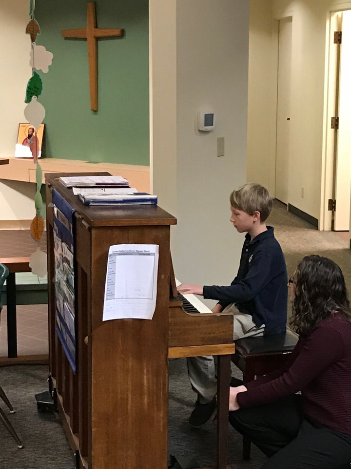 - Our students like hearing adults play the gathering music ('prelude' if you're in a worship service that uses latin), but they really like being the ones that play the gathering music.