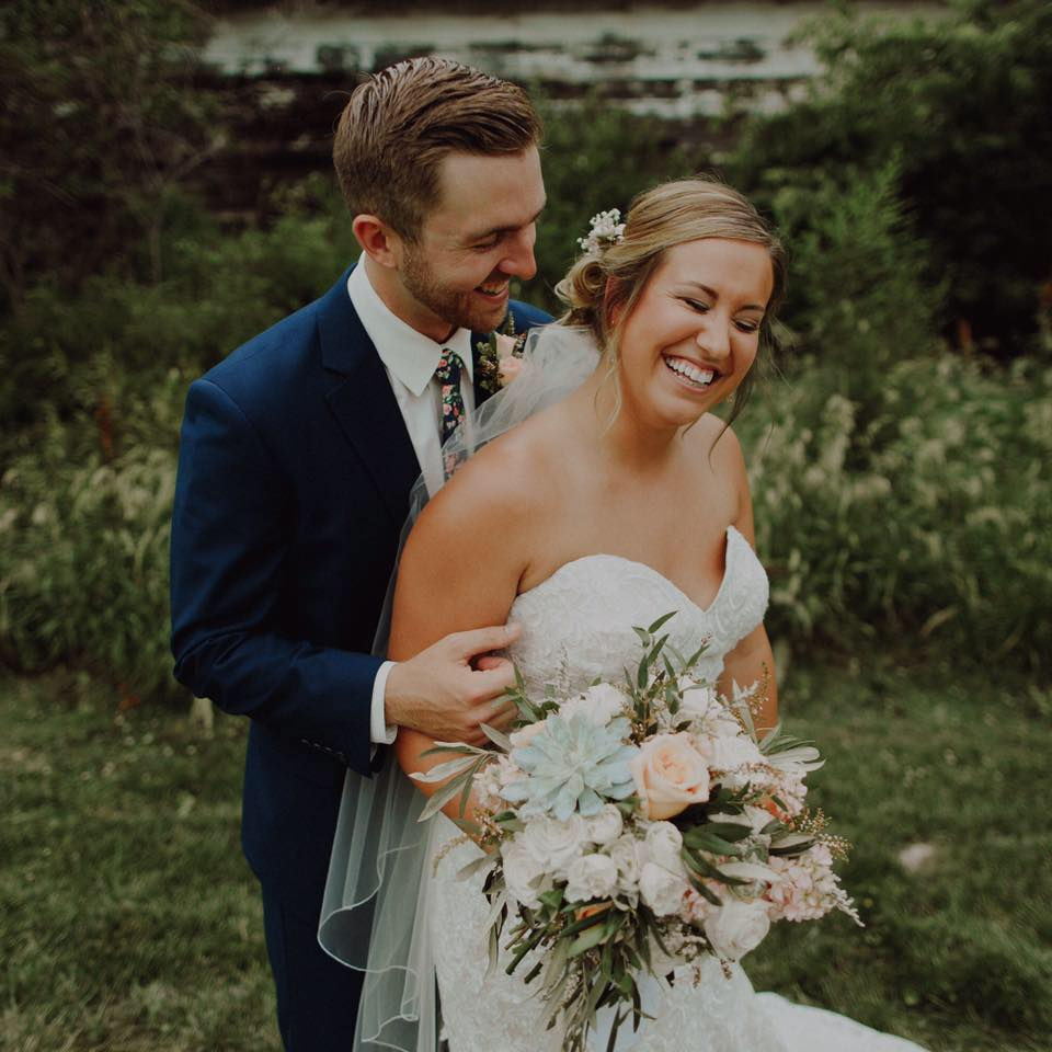 """Molly // Bride - """"Honestly can't put into words how amazing everyone at found and Flora is to work with. They went above and beyond for our wedding and our flowers were beautiful!! Not to mention every time I step foot in their store I wish I could live there! Thank you for adding the most beautiful details to our day!""""PHOTO: BRETT BROONER PHOTOGRAPHY"""