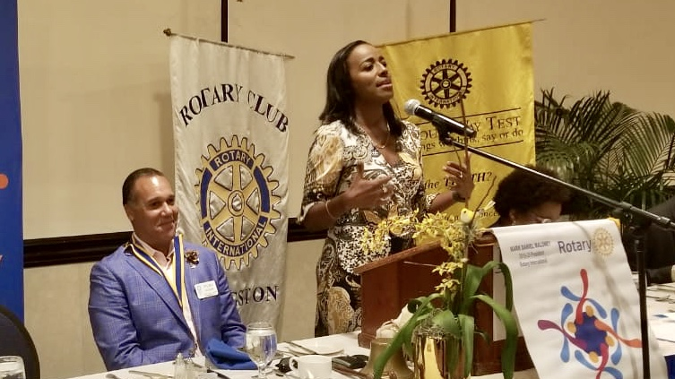 I enjoyed sharing on this topic with the Rotary Club of Kingston Jamaica lead by President Steven Hudson (left).