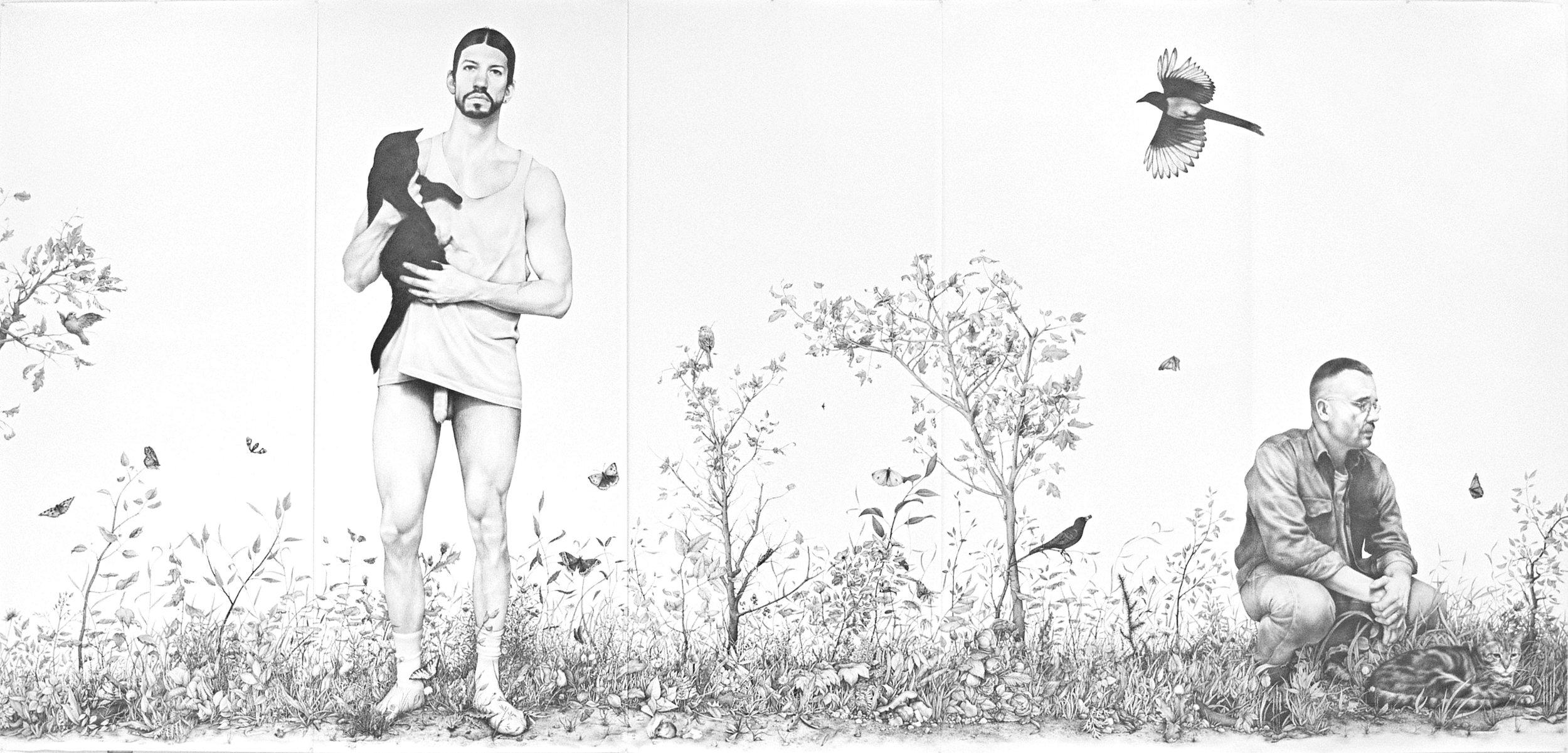 Zachari Logan,  Vignette , 2011, graphite on paper, 108 x 208 in. Photo courtesy of the artist.