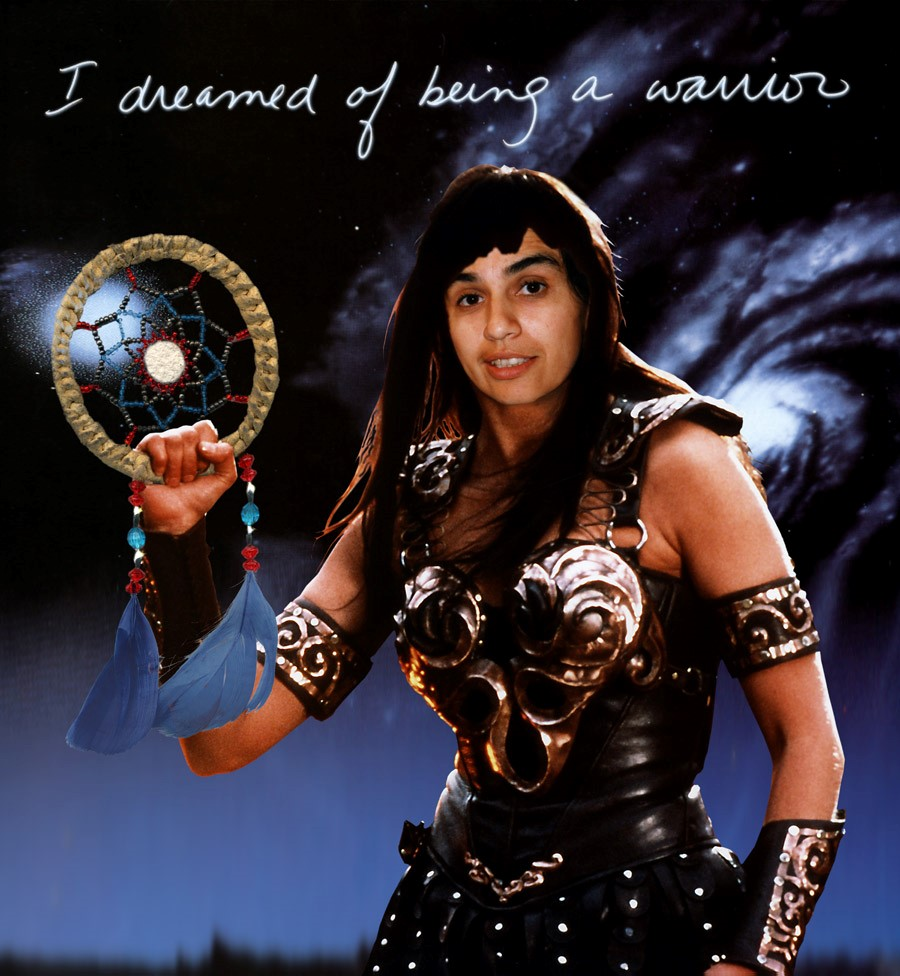 Rosalie Favell,  I Dreamed of Being a Warrior , digital print, 1999. Photo: courtesy of the artist.
