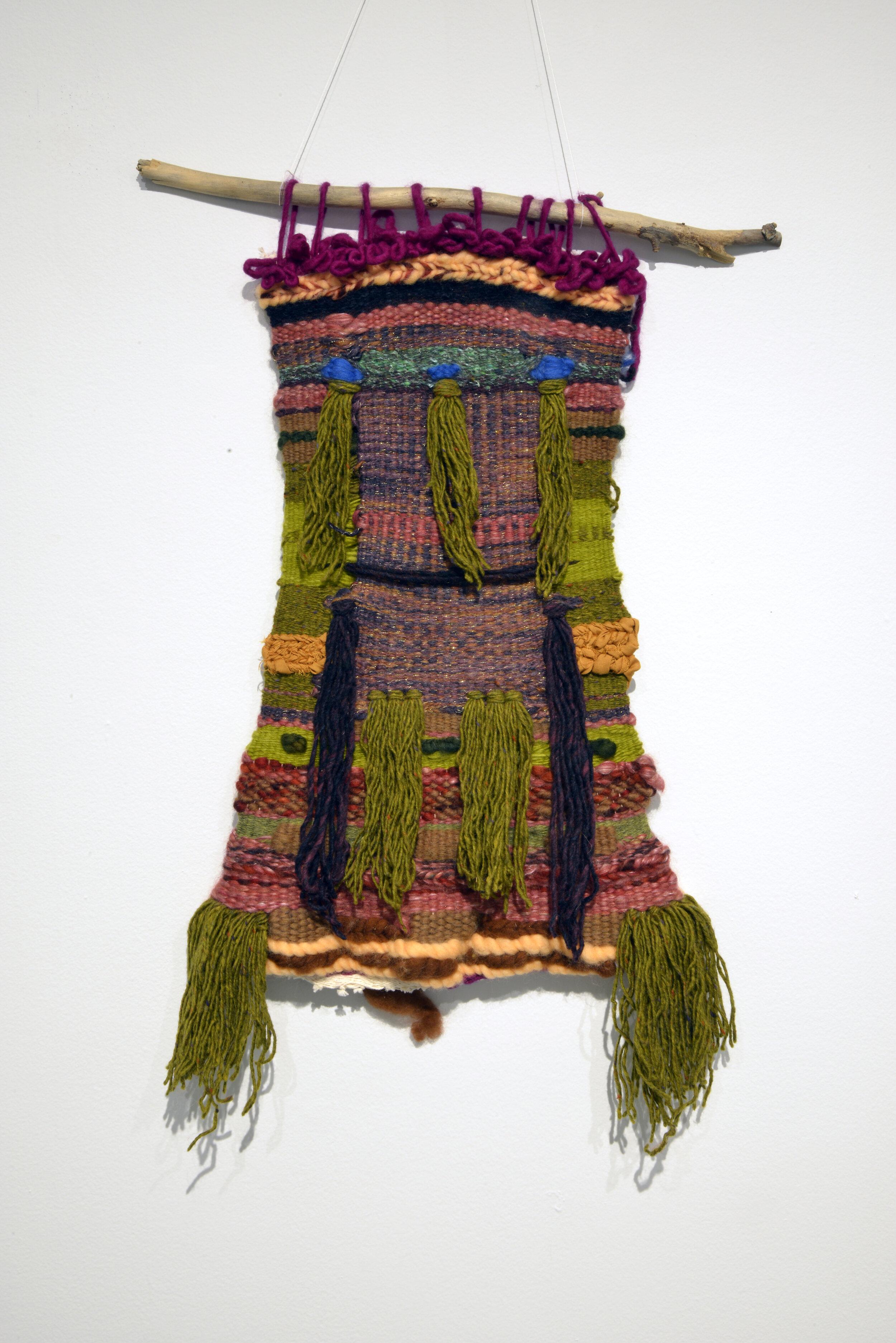 melannie monoceros,   Ancestors – Self Portrait (present),    2016, textile, tapestry. Photo by Don Hall.