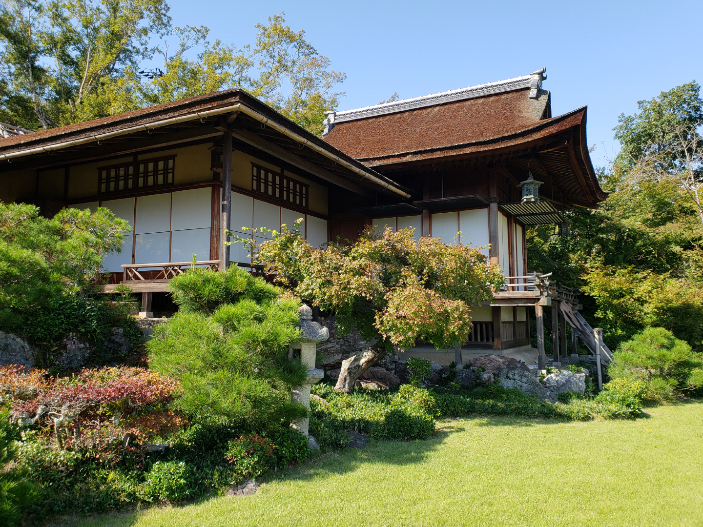 Ōkōchi spent 30 years building this villa and the surrounding gardens.