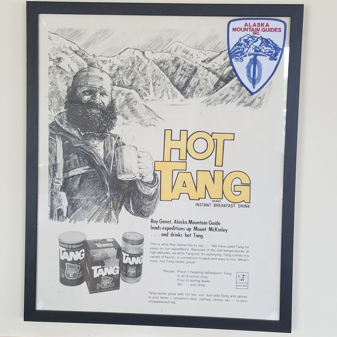 Hot Tang is one of my favorite winter-expedition drinks! Ray Genet was a very famous guide, who was part of the first successful winter Denali expedition (and many others) before his death on Mt. Everest in 1979.