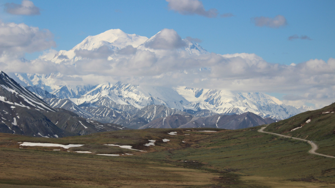 From the road to Wonder Lake, in Denali National Park