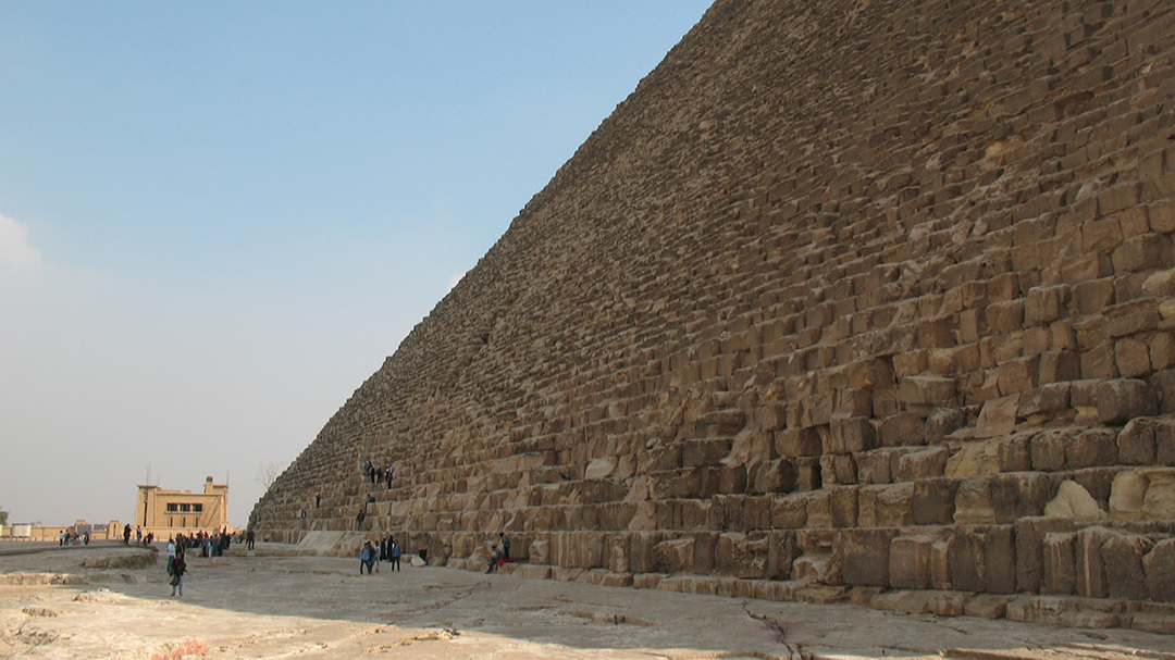 One of the pyramids: it's hard to imagine the scale of it.