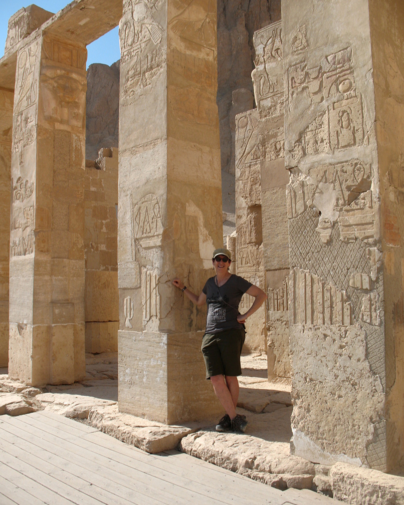 The author poses by yet another ruin...!