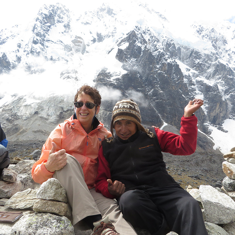 with my Quechuan friend on top of Salkantay Pass