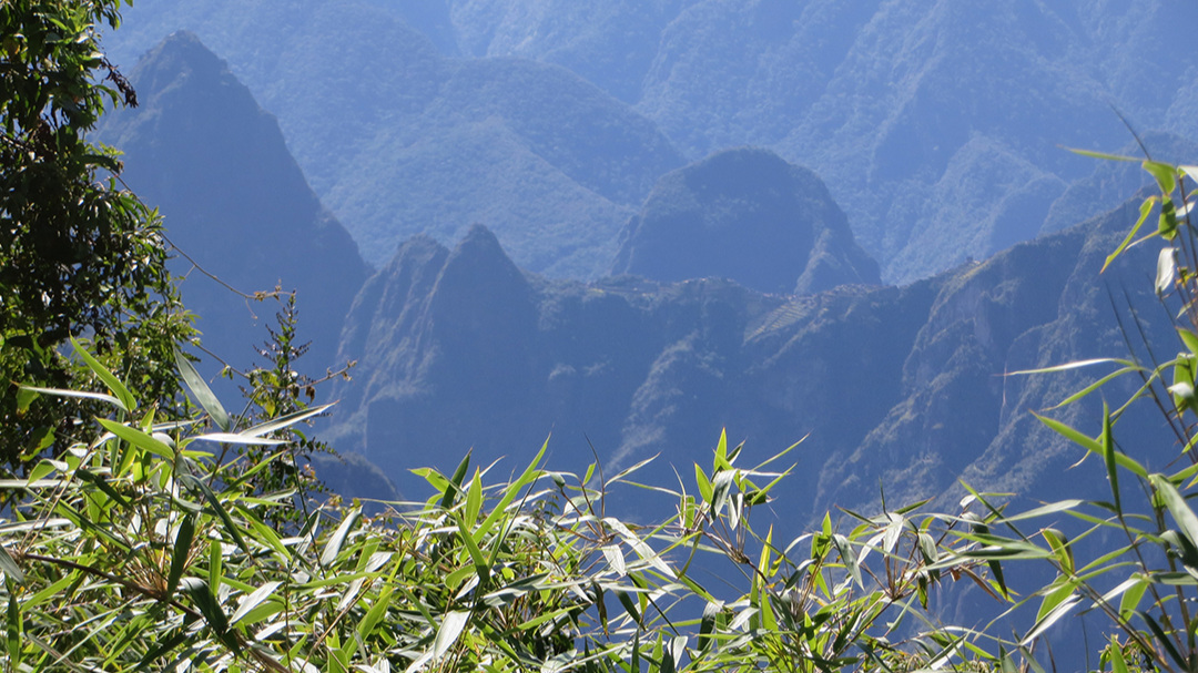 first view of Machu Picchu, from the west