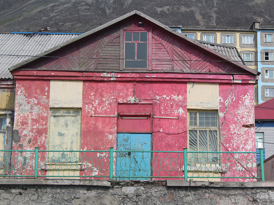 A colorful home in Provideniya.