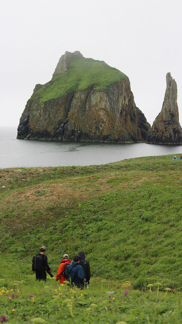 Hiking on St. Matthew Island