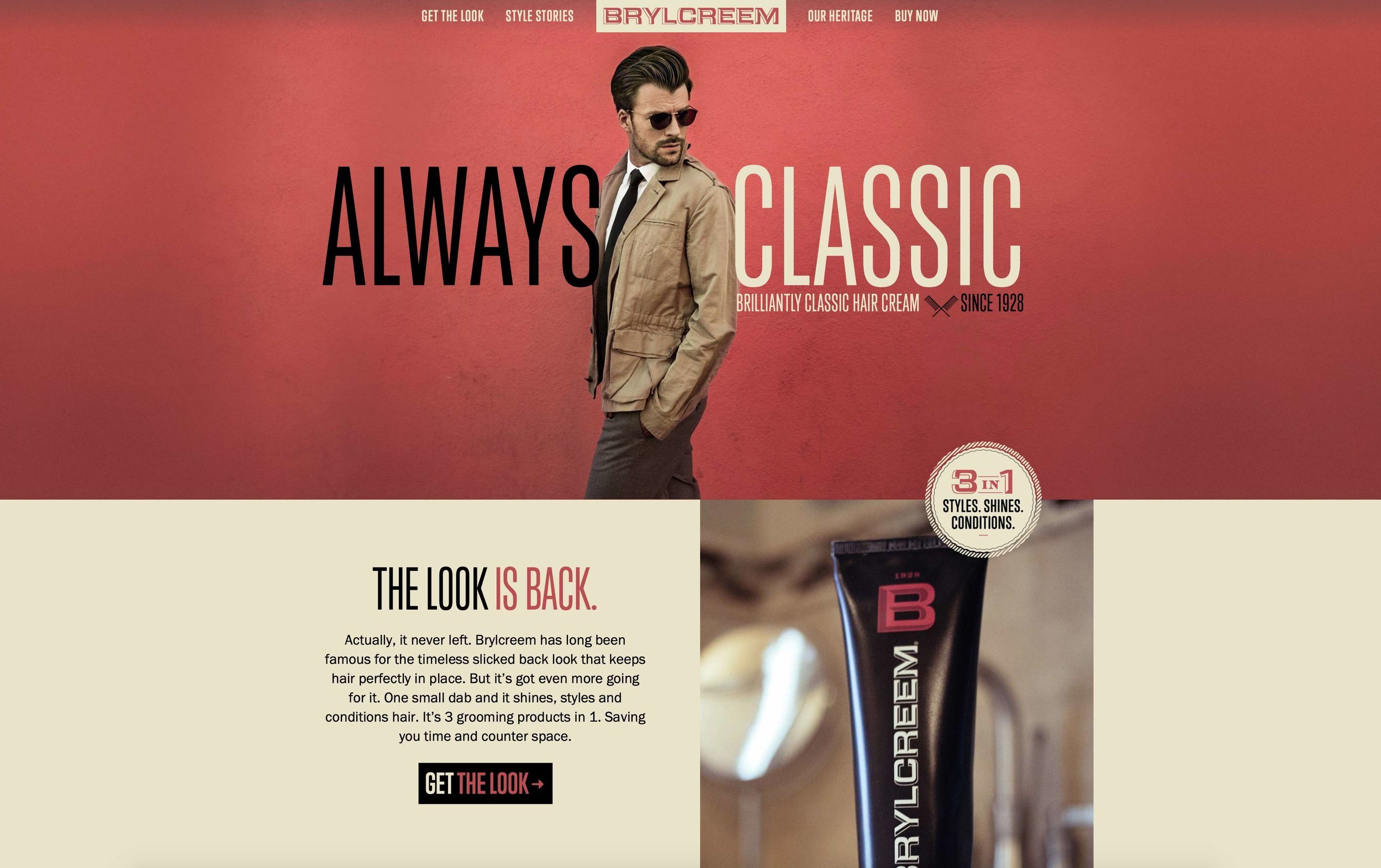 BRYLCREEM's Website → -
