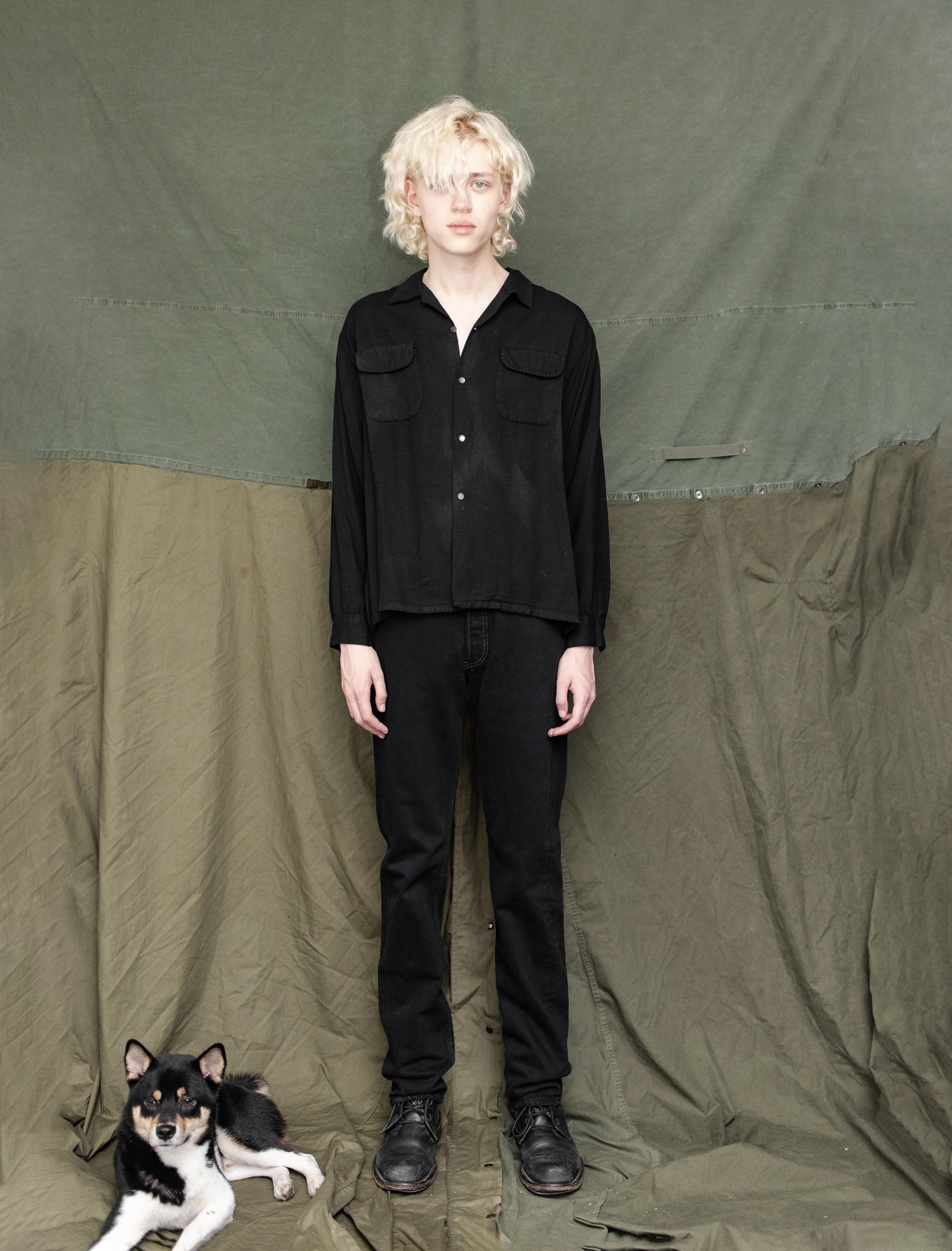 50's Gabardine Loop Collar Shirt 80's Levi's 501 Jeans