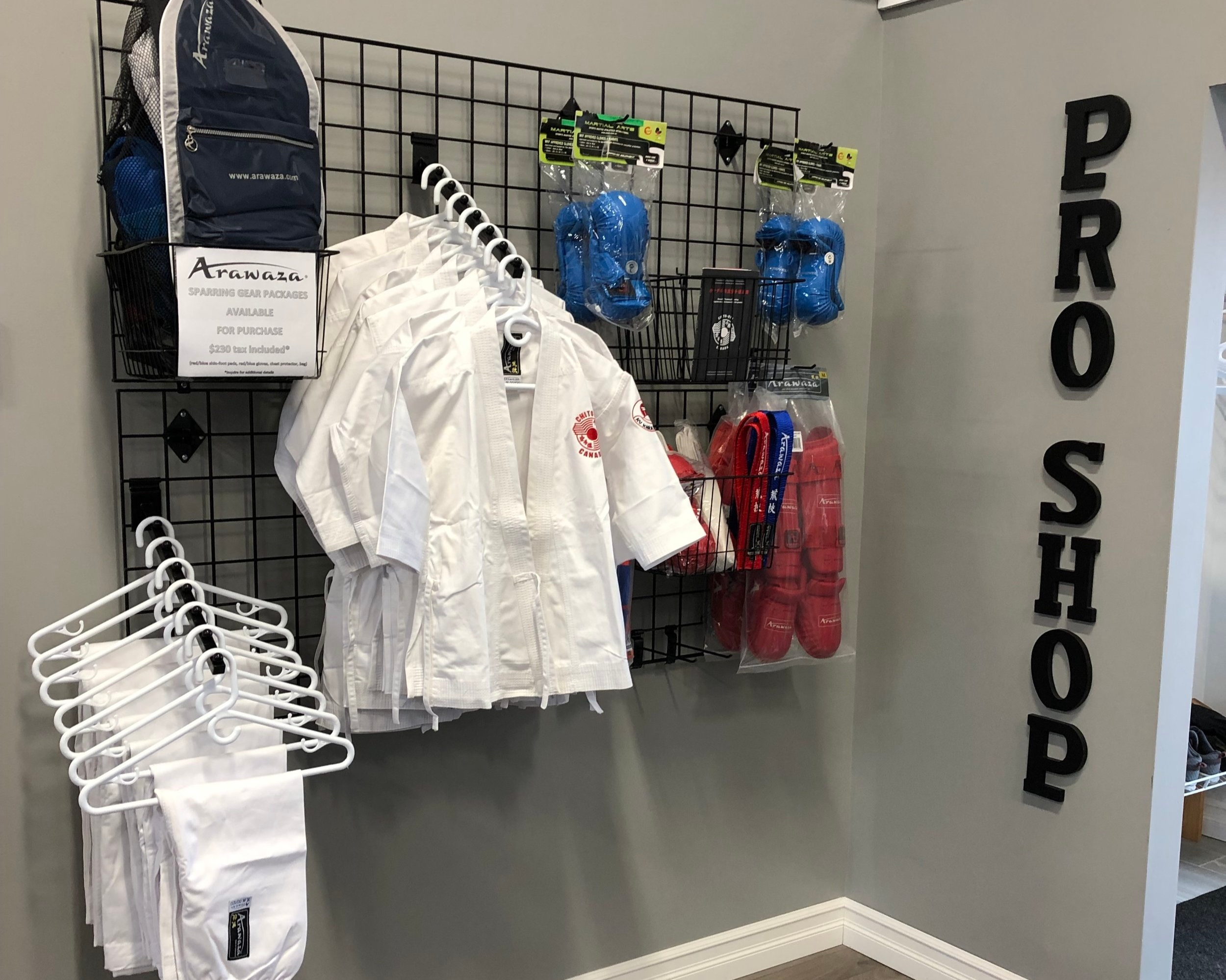 KV Karate Pro Shop - Conveniently located in our dojo…