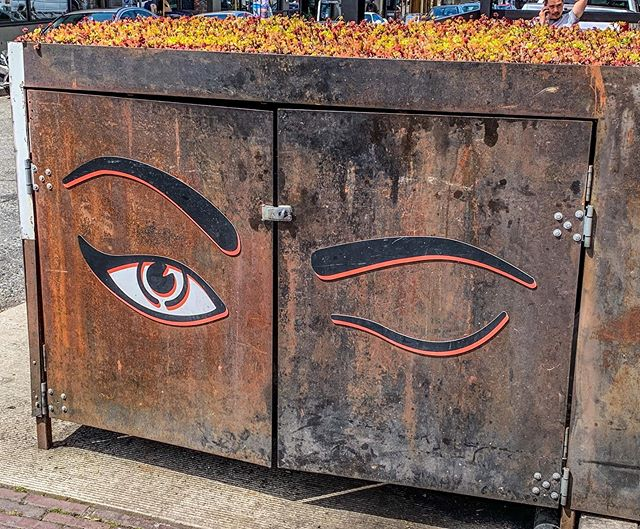 Seattle - mindfulness is so popular here even the trash bins are meditating. #meditation #mindfulness #seattlelife #weirdcity