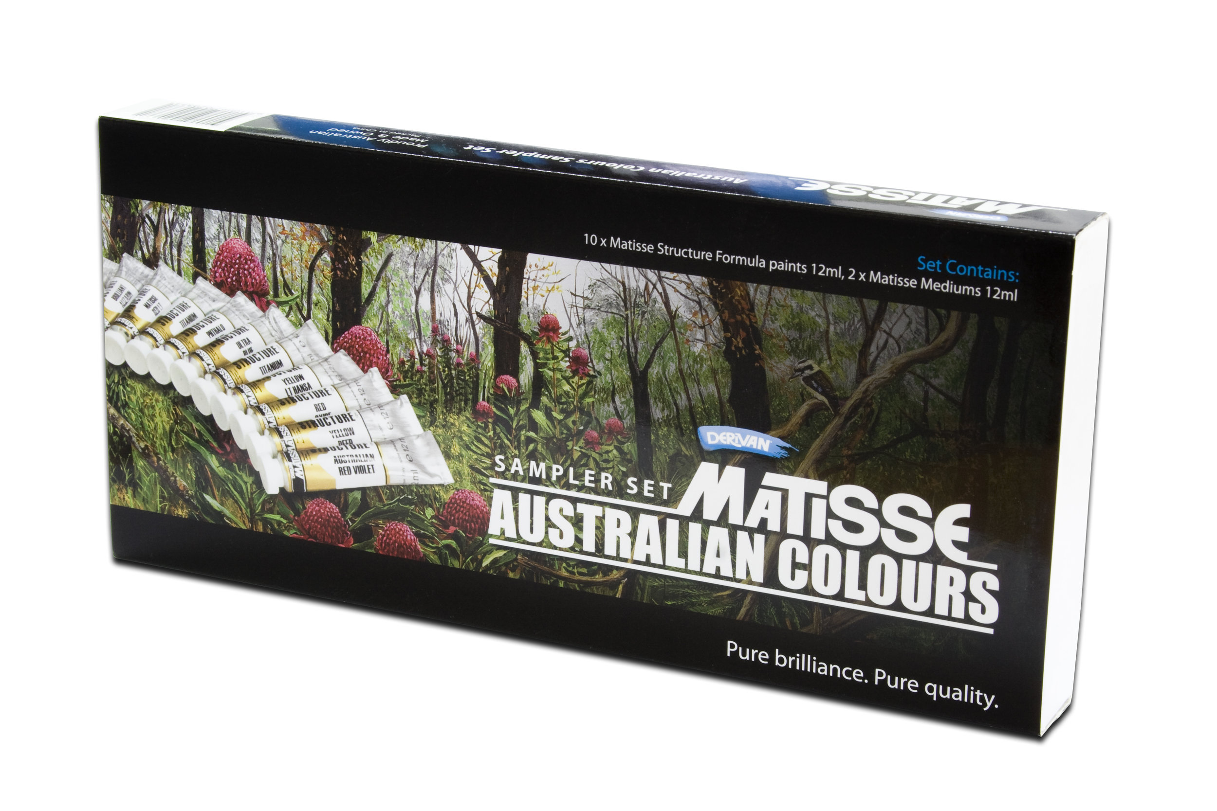 MATISSE AUSTRALIAN COLOURS SAMPLER SET - STRUCTURE FORMULA