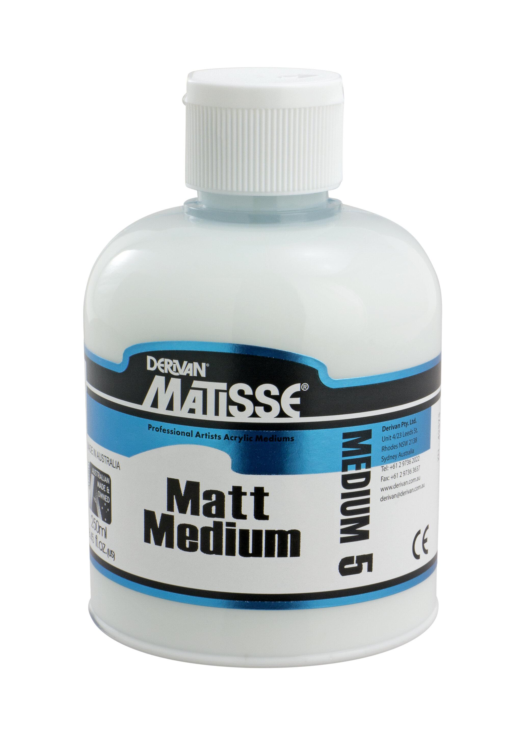 MM5 Matt Medium - ———————Add to Matisse Colours to achieve a matte sheen/finish.