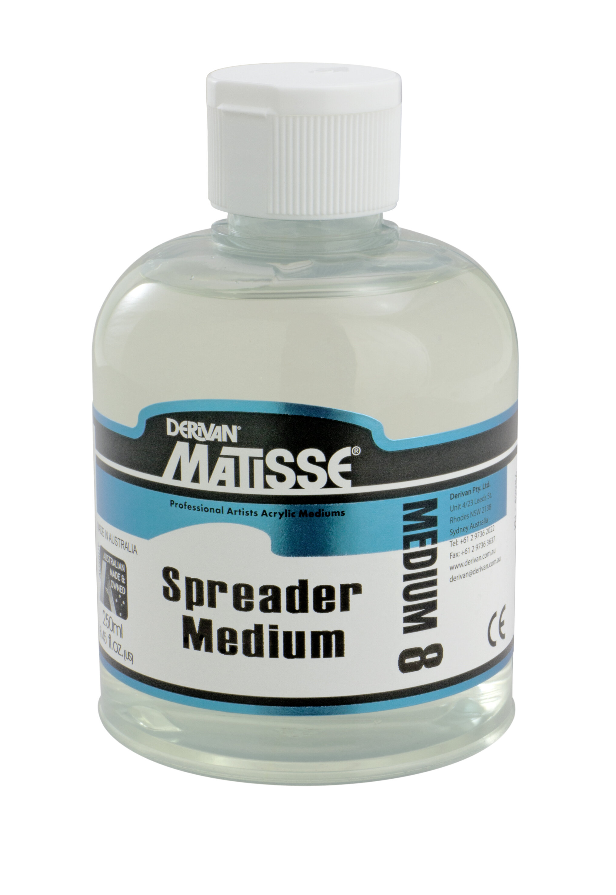 MM8 Spreader Medium - ———————Add to Matisse Colours to achieve washes and glazes.