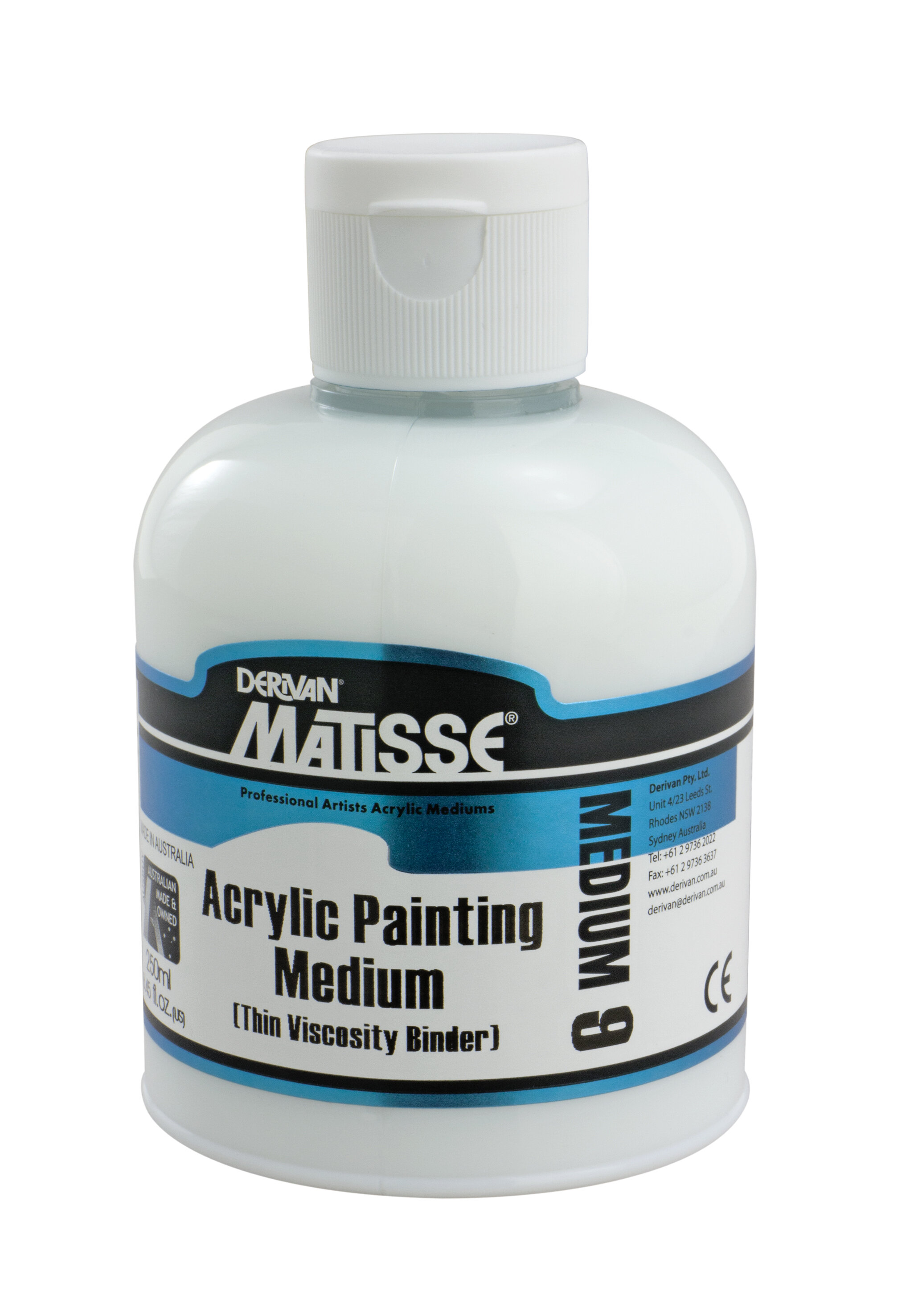 MM9 Acrylic Painting Medium - ———————Use to increase binder content of Matisse Colours when reducing them with water.