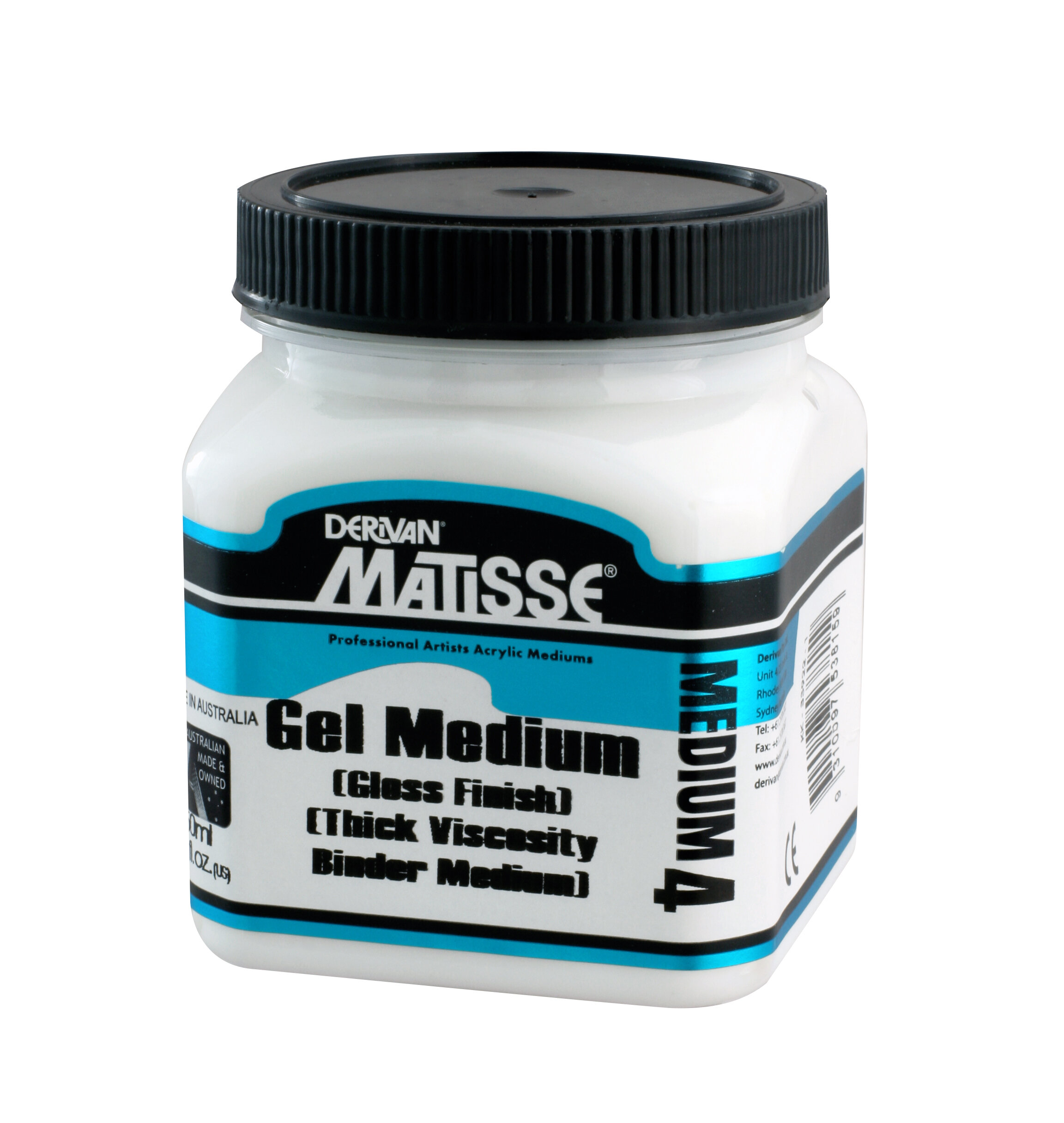 MM4 Gel Medium (Gloss Finish) - ———————Dries clear or mixes with Matisse colours to give a 3D high-gloss glaze.