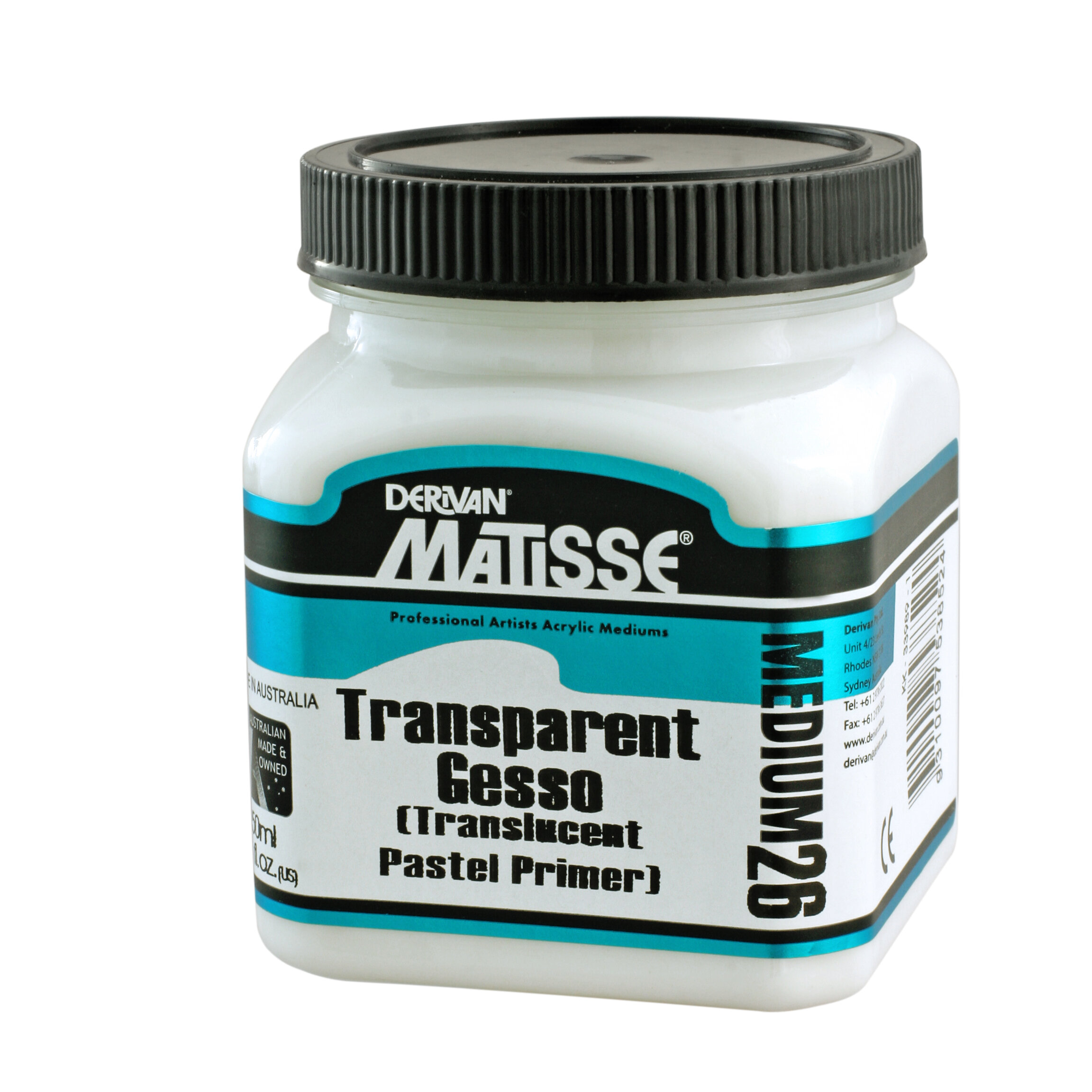 MM26 Transparent Gesso(Pastel Primer) - ———————A clear gesso which may be mixed with Matisse Background Colours to produce