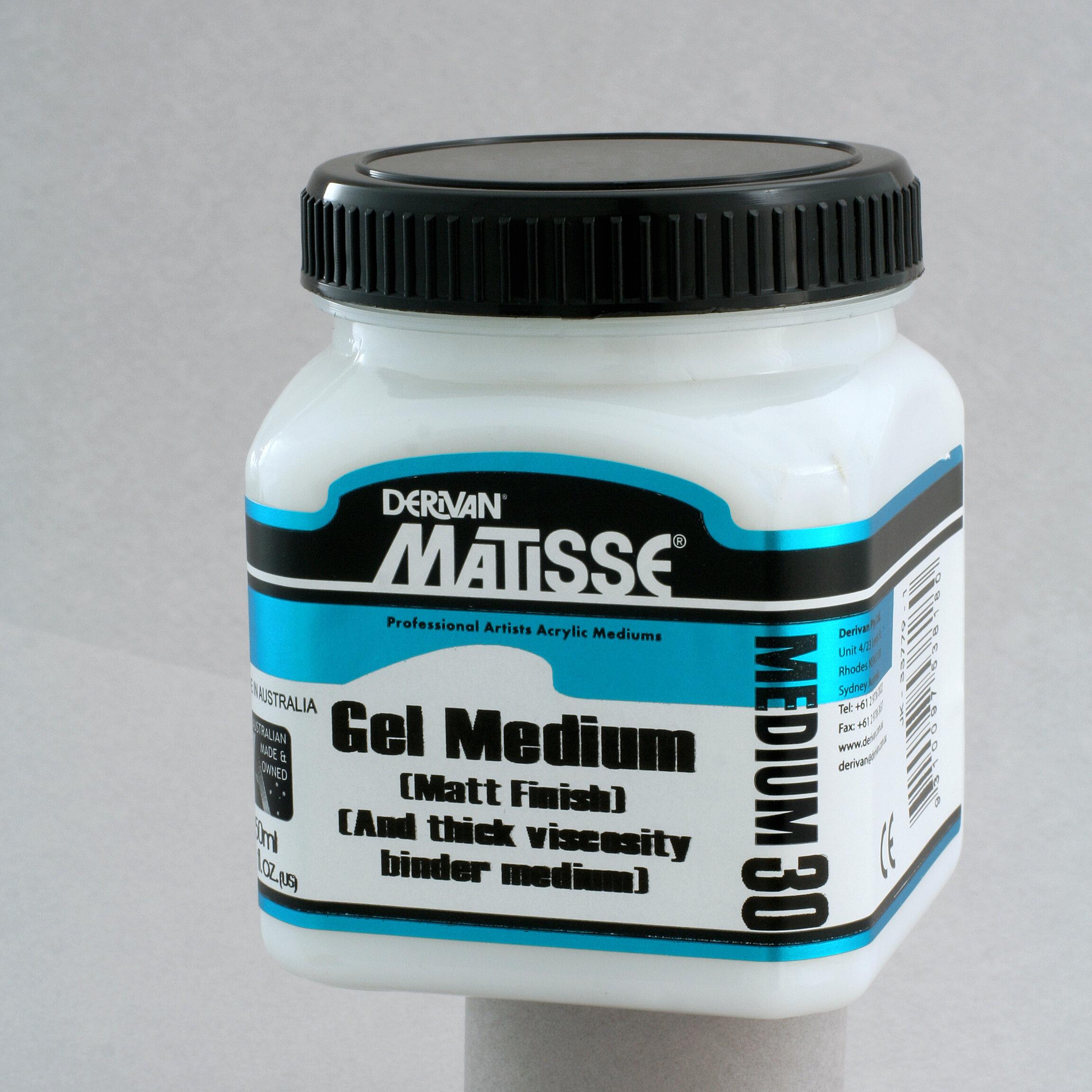 MM30 Matt Gel Medium - ———————All the valued qualities of Derivan's original Matisse Gel Medium, now in a matt finish.