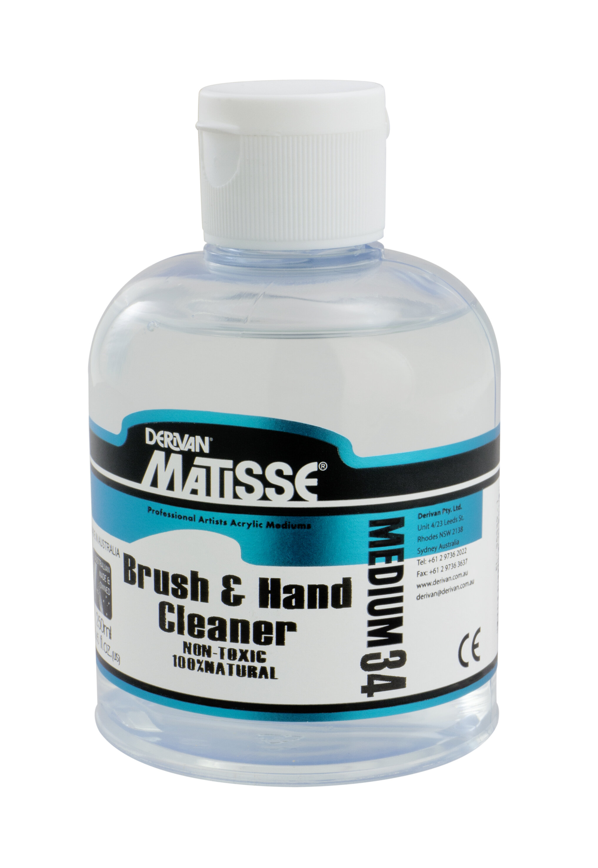 MM34 Brush & Hand Cleaner - ———————Gentle cleaner to remove paint from both brushes and hands. Natural ingredients, non toxic or polluting, biodegradable.