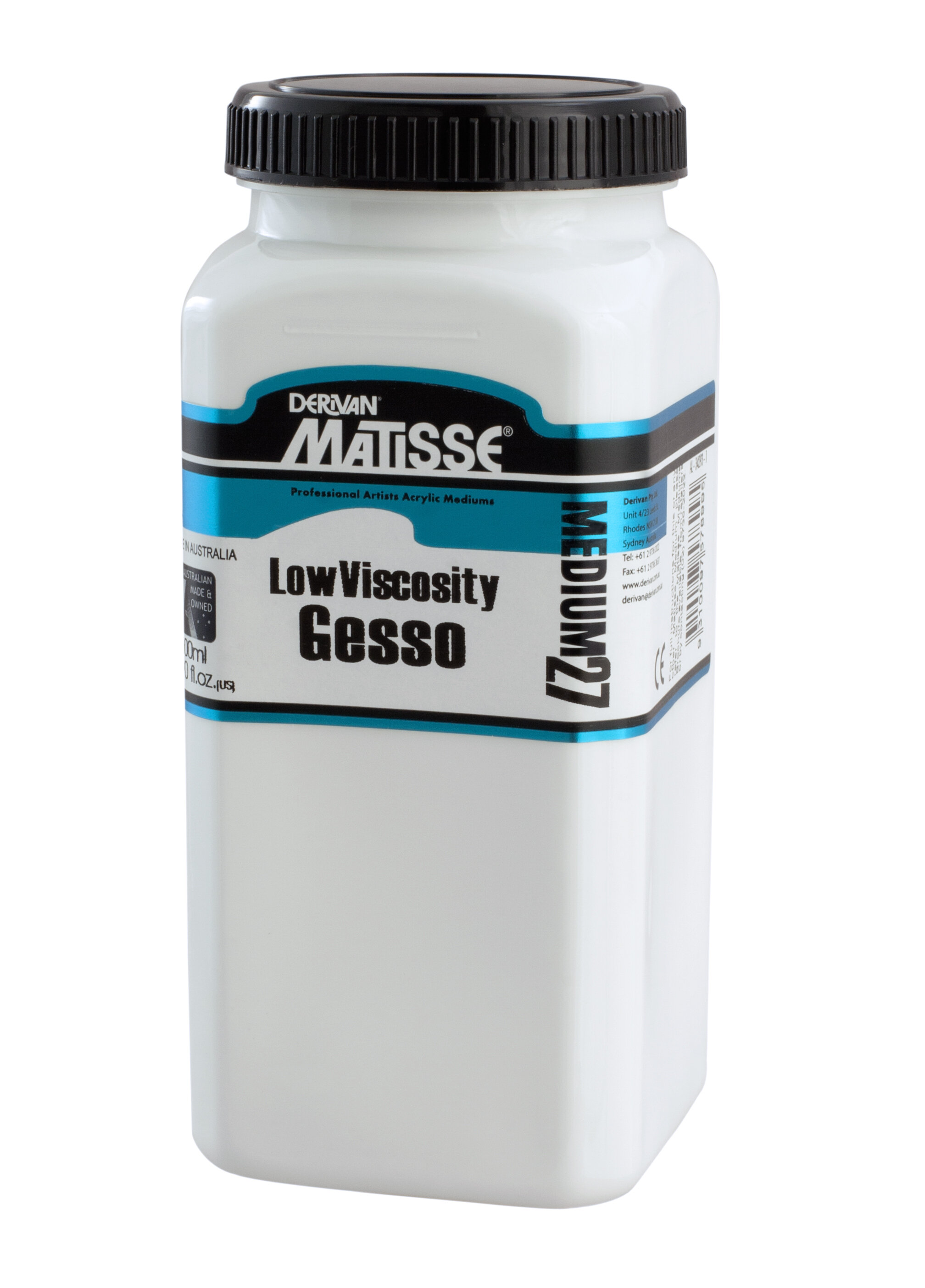 MM27 Low Viscosity Gesso - ———————A low viscosity alternative gesso for artists who want to brush straight from the jar.
