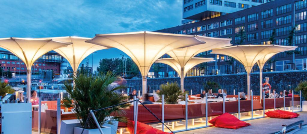 Outstanding Tulip Umbrellas - I-Dock, Amsterdam, Netherlands