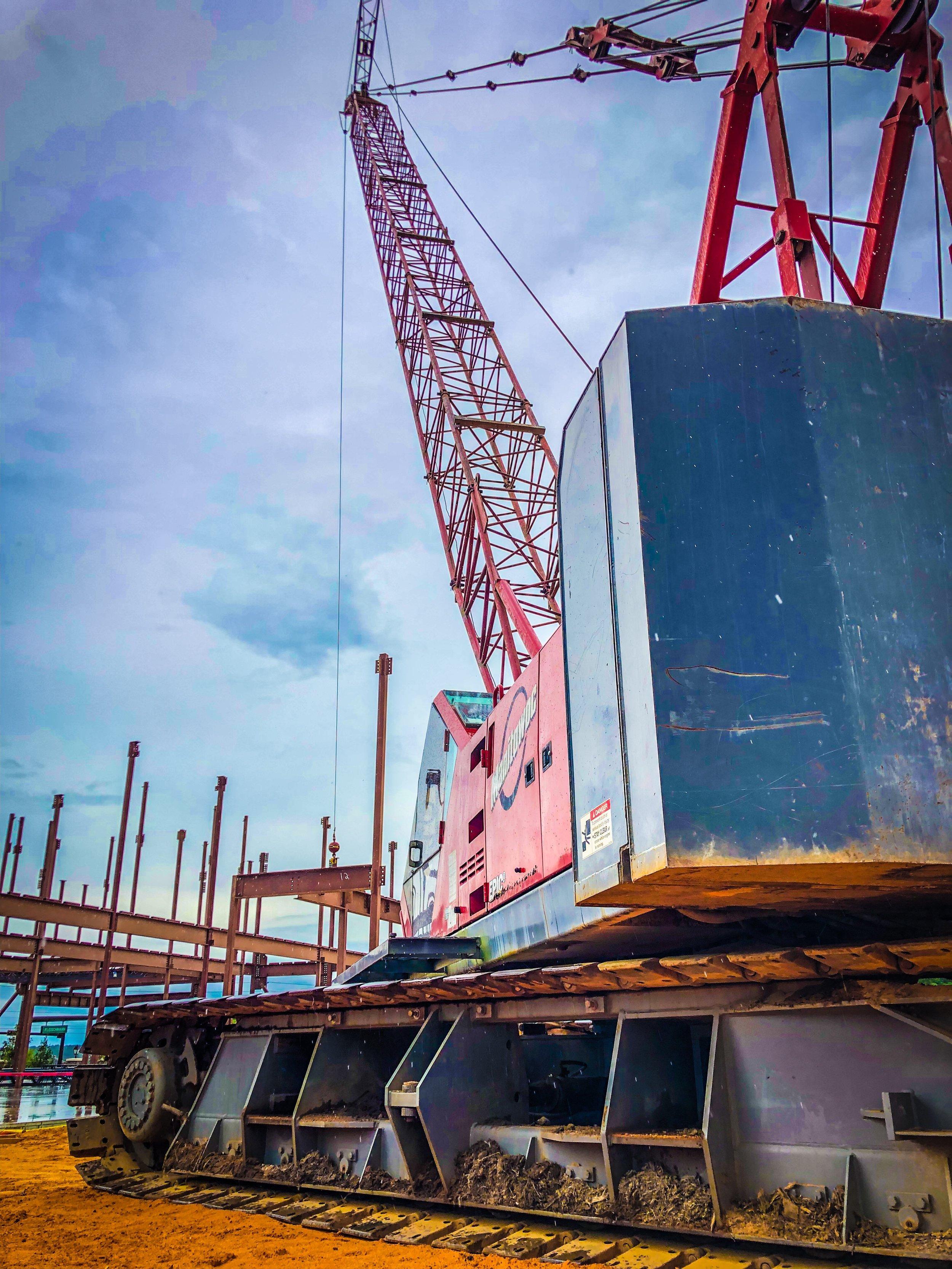 tracked crawler crane lattice crane commercial building.JPEG