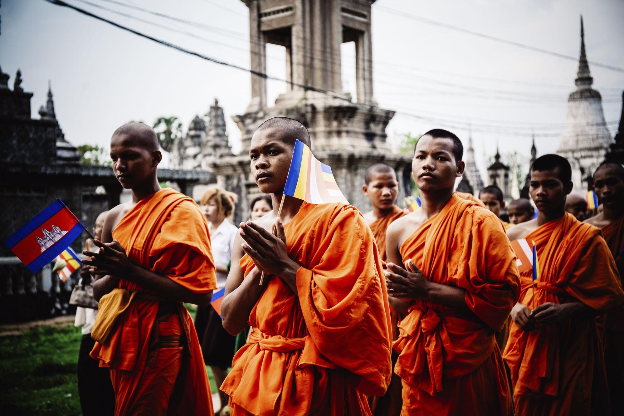 Monk Celebrations in Siem Reap
