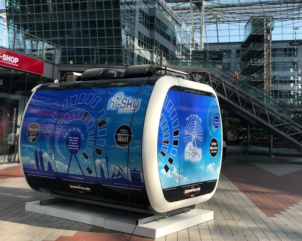 The Hi-Sky gondola will now welcome everyone arriving at München Airport! -