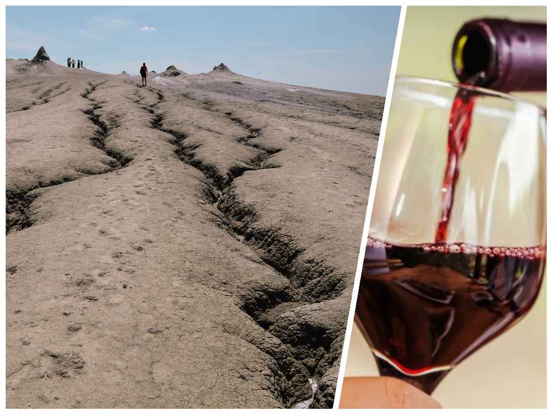 Wine Tasting &Mud Volcanoes from 95 Euro pp -
