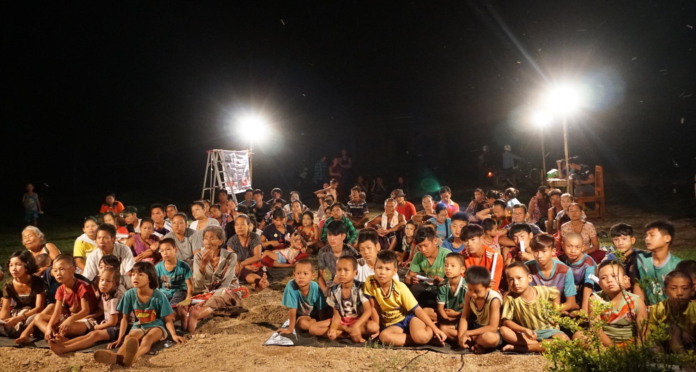 Htee Law Shu village, Karen State - Night Screening