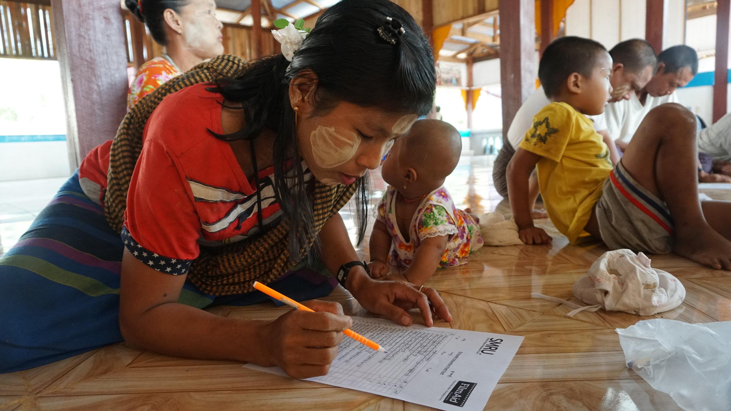Htee Kew Htam village - Post screening questionnaire
