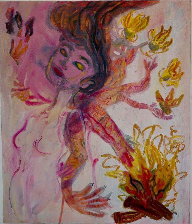Hestia, oil and acrylic on canvas, 102 x 87 cm. 2018