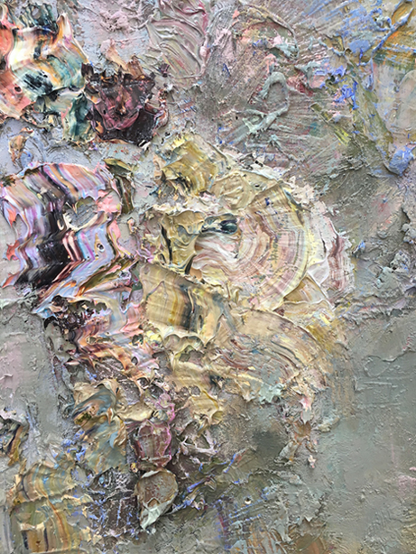 "Detail shot of ""Love Duster""."