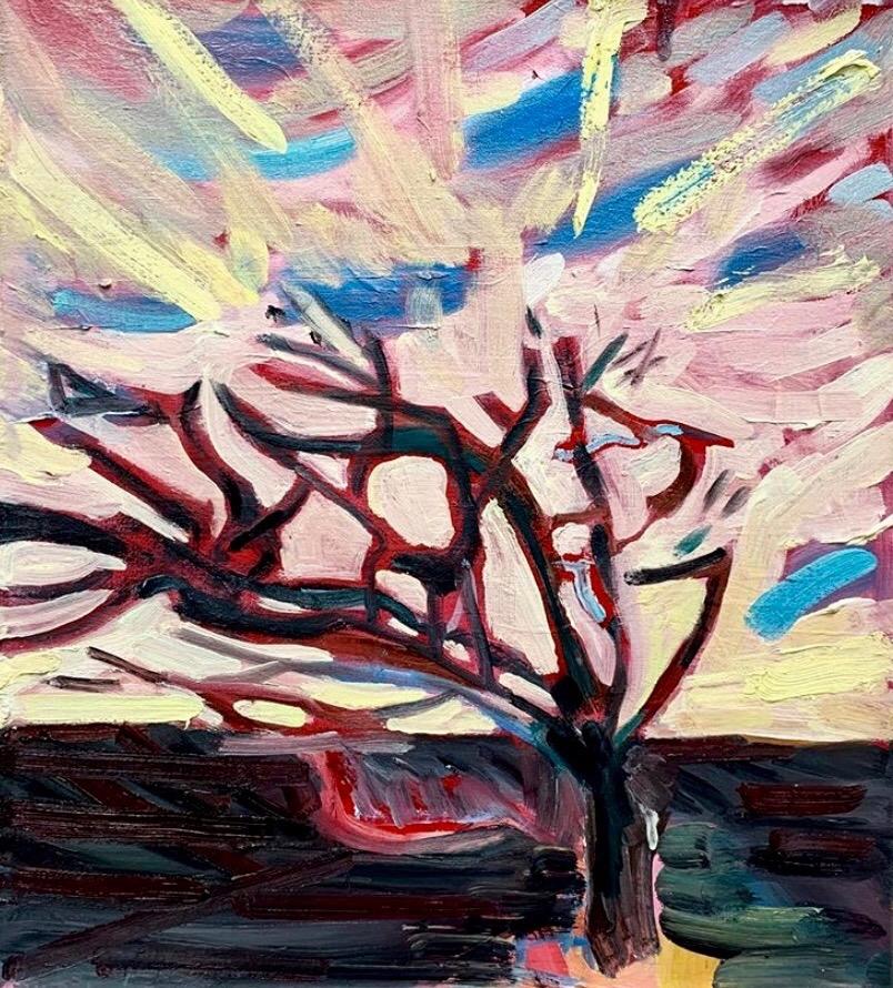 Flatlands, oil on canvas, 46 x 40cm (2019)