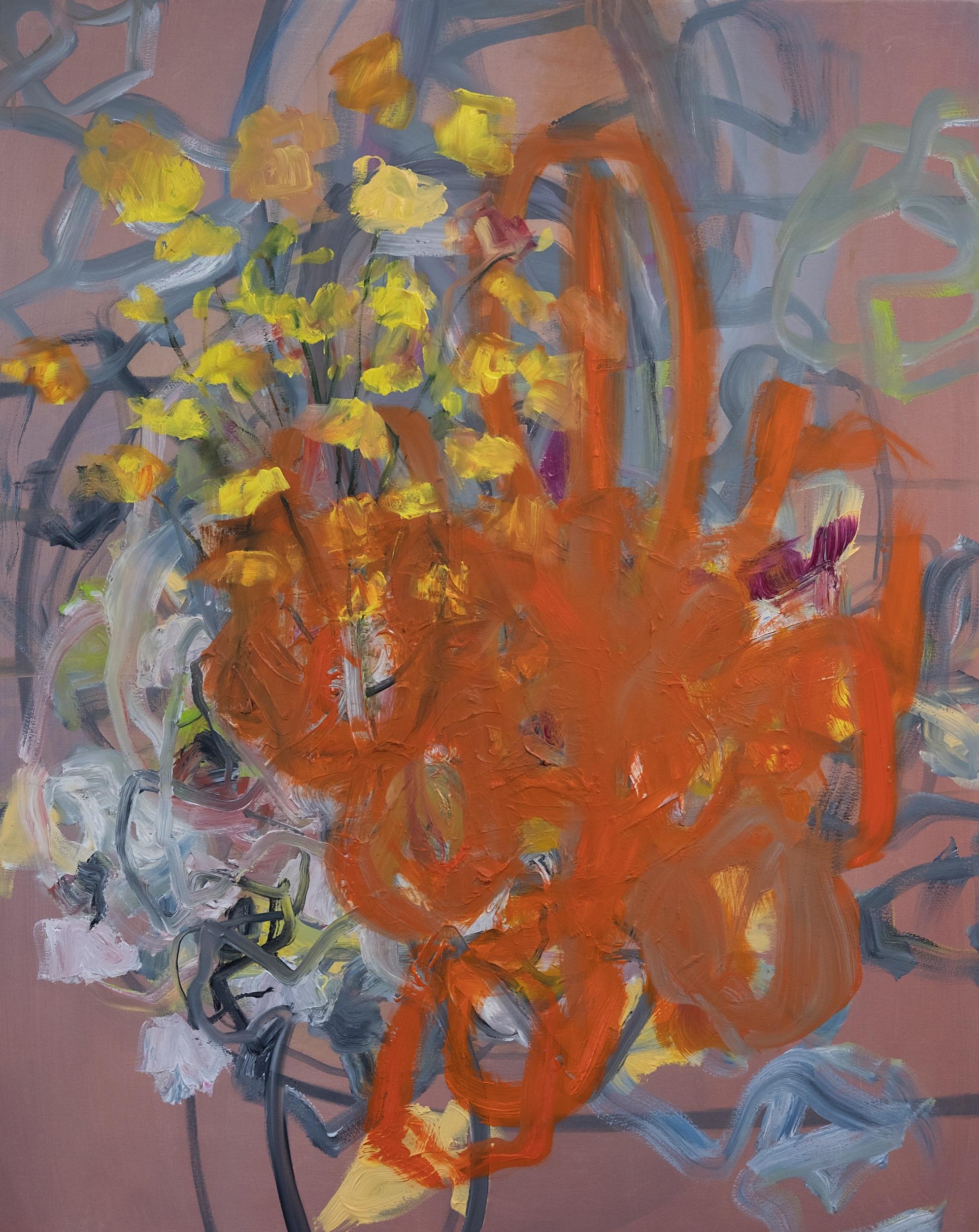 Orange Light, 2018. Oil on canvas, 100 x 80 cm.