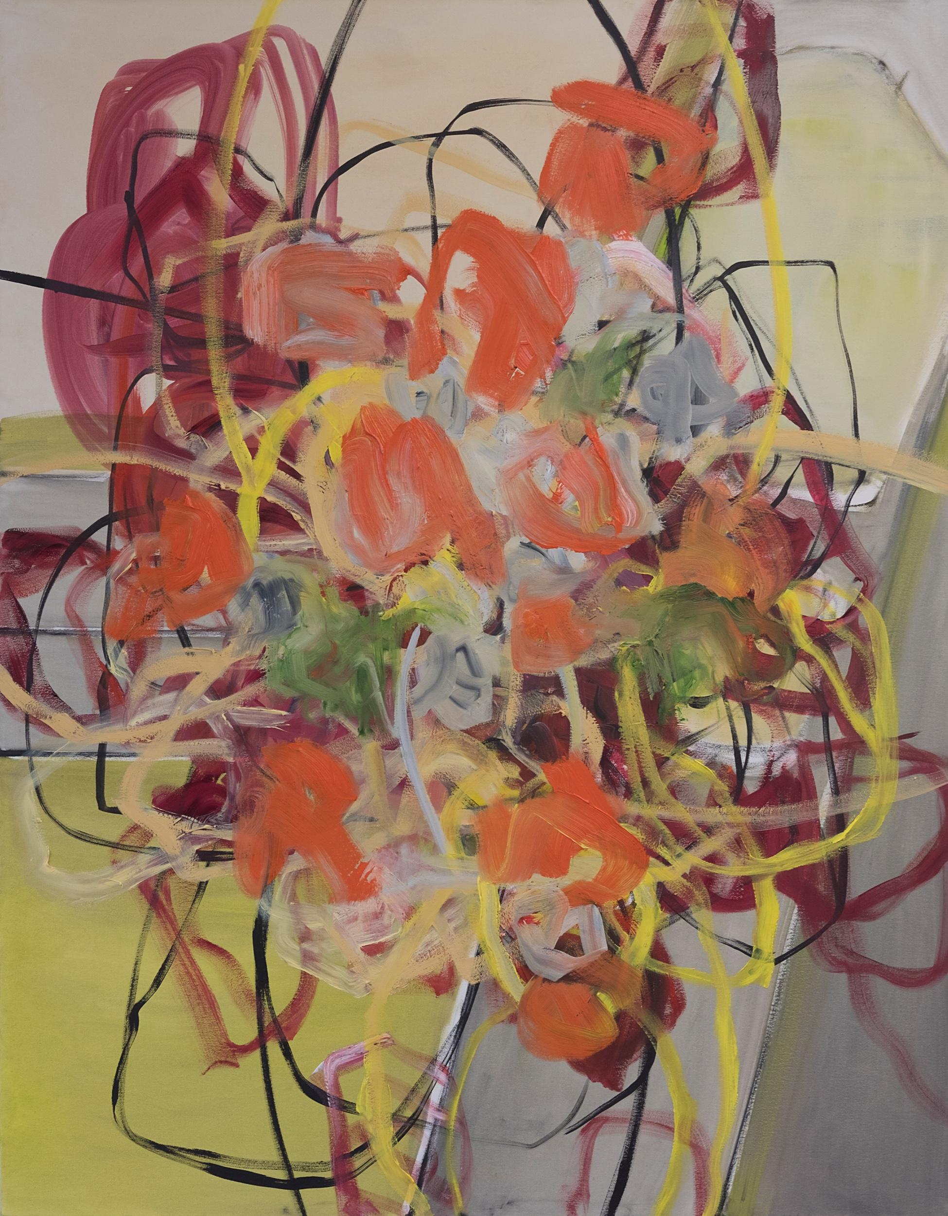 Sideways, 2018. Oil on canvas, 100 x 80 cm.