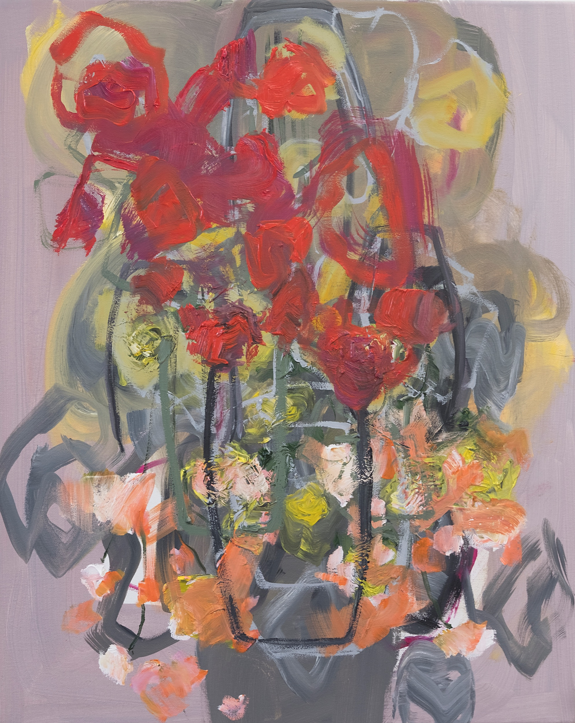 Teetering, 2019. Oil on canvas, 50 x 40 cm.