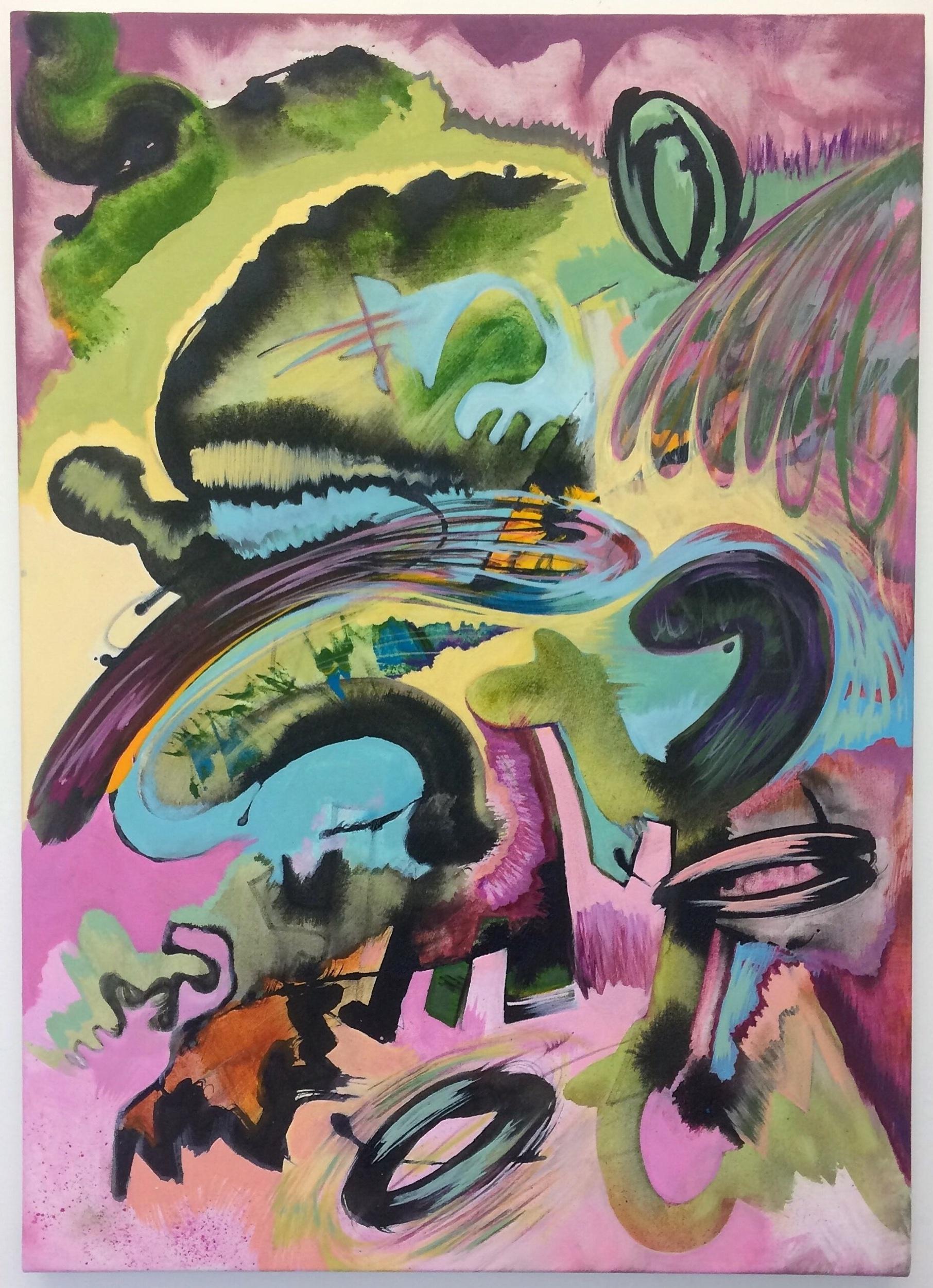 2. Chronic looper, 2018, acrylic on canvas, 70cm x 50cm.jpeg