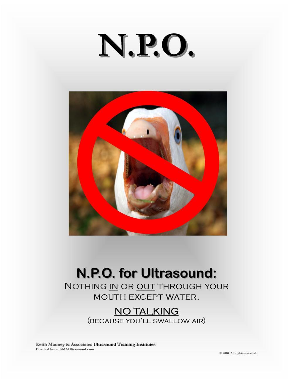 KMA Ultrasound NPO for Ultrasound