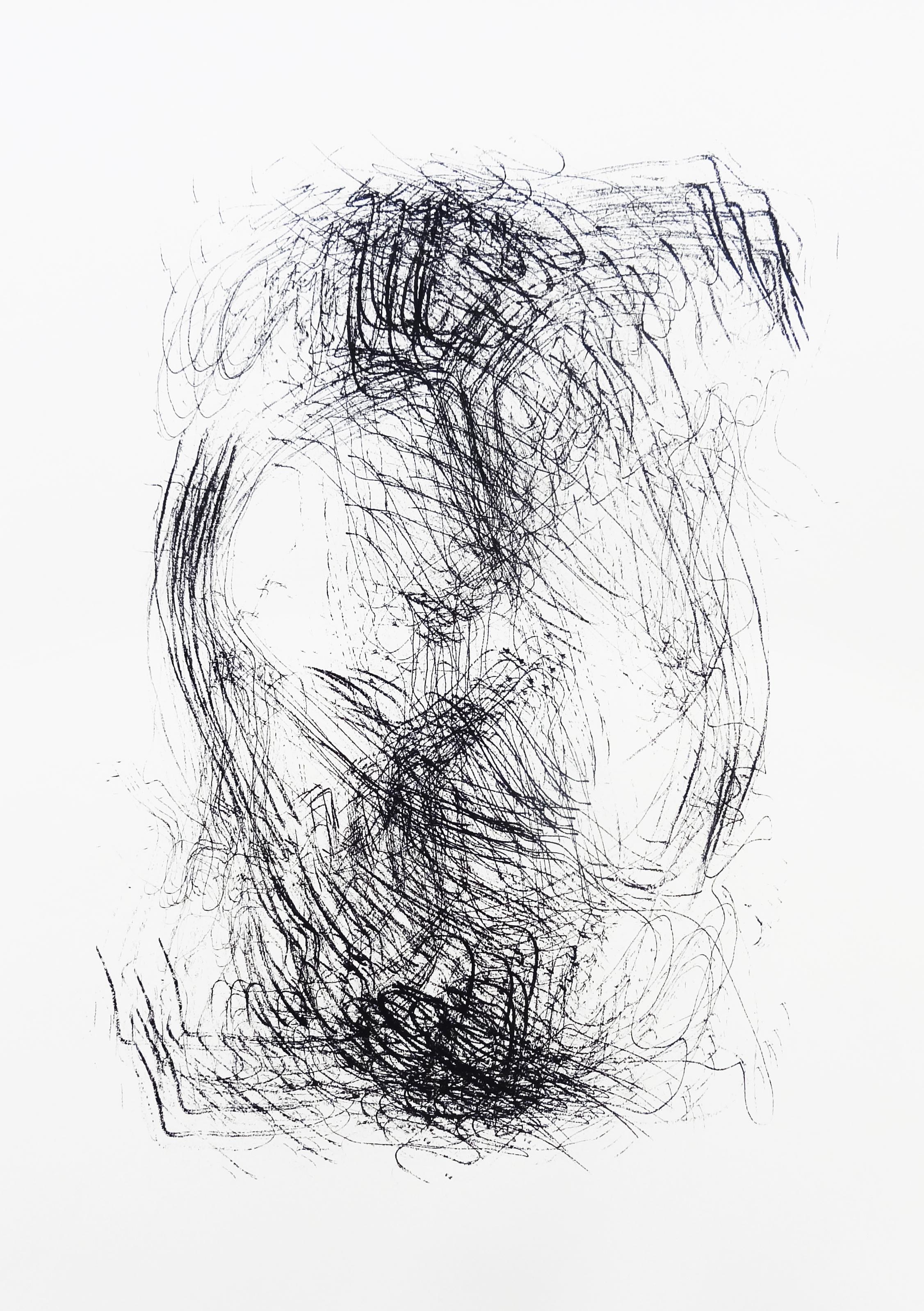 Untitled, 2015 acrylic on paper one-off screenprint 42,0 x 29,7 cm (8-15)