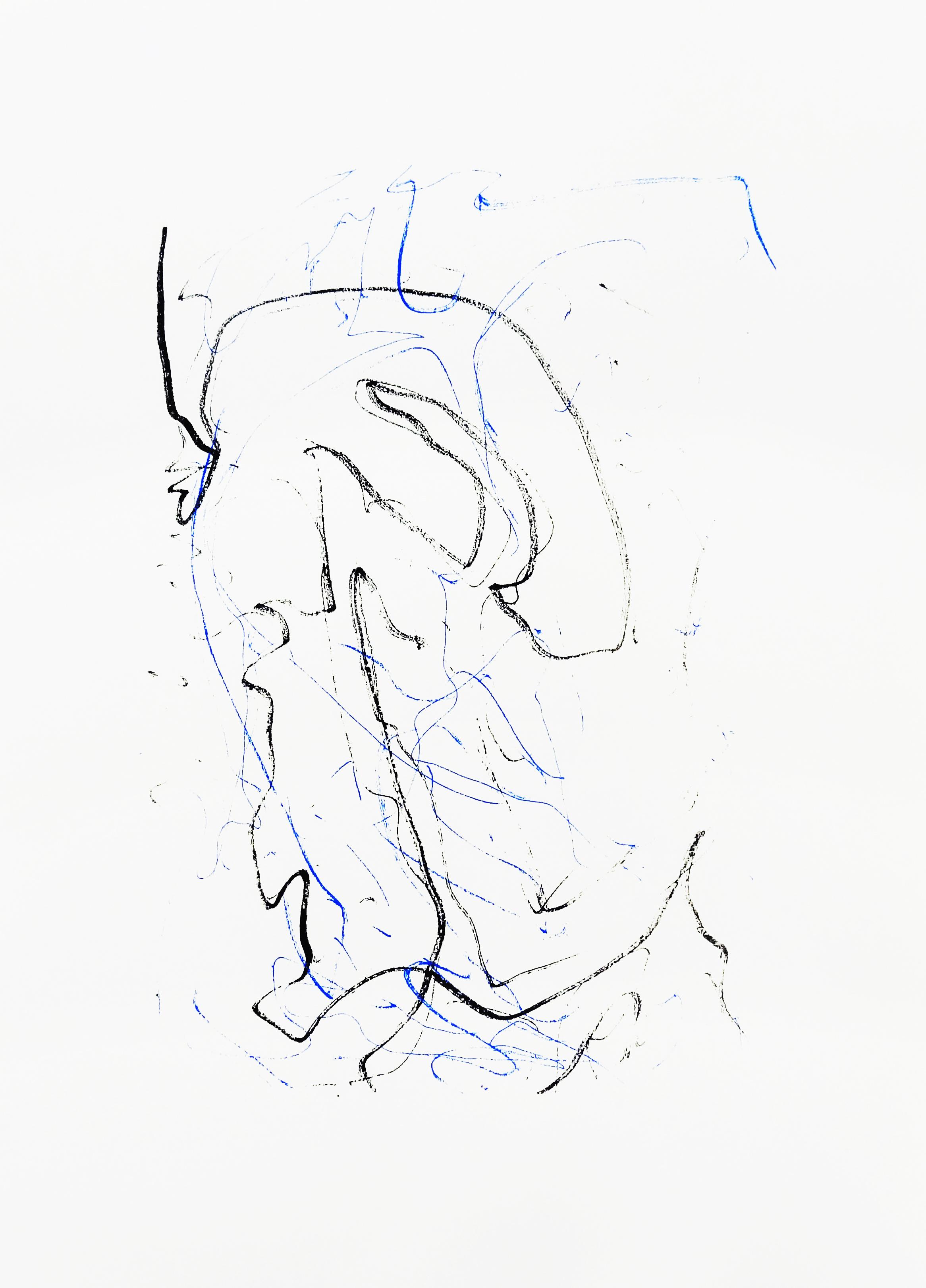 Untitled, 2015 acrylic on paper one-off screenprint 42,0 x 29,7 cm (4-15)