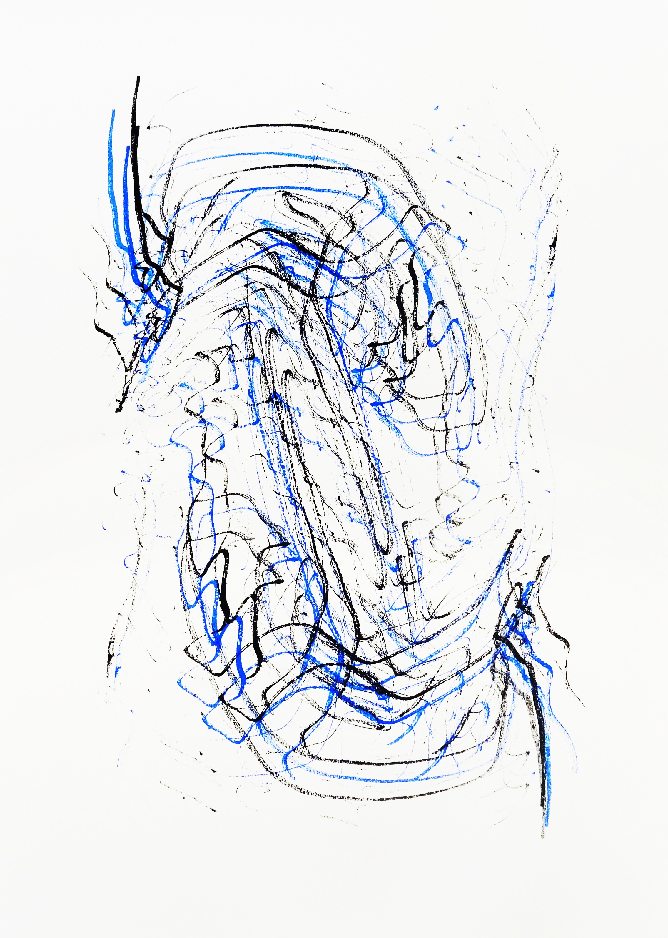 Untitled, 2015 acrylic on paper one-off screenprint 42,0 x 29,7 cm (2-15)