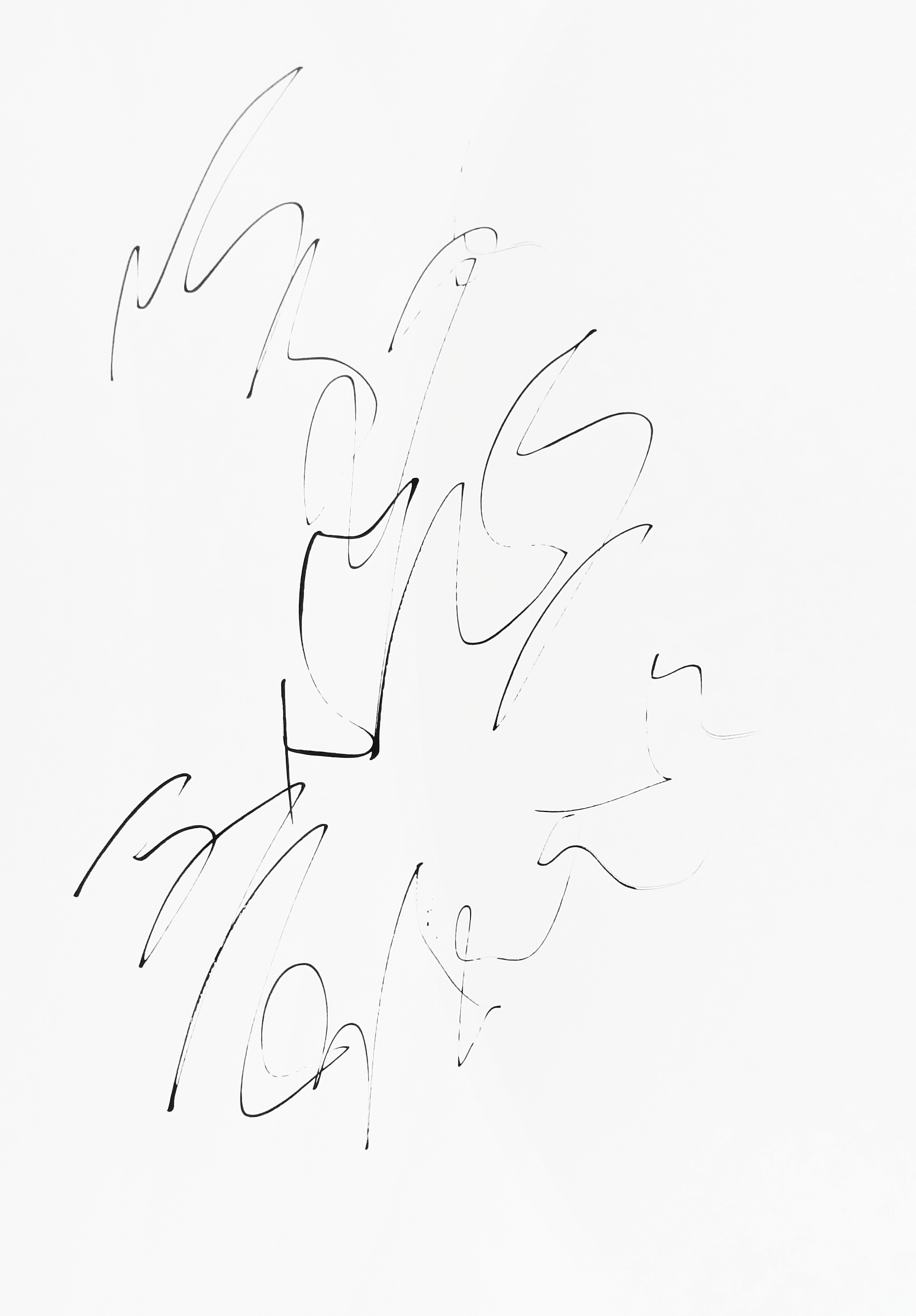 rhythm and flow studies, 2019 calligraphy ink on paper 42,0 x 29,7 cm (8-19)