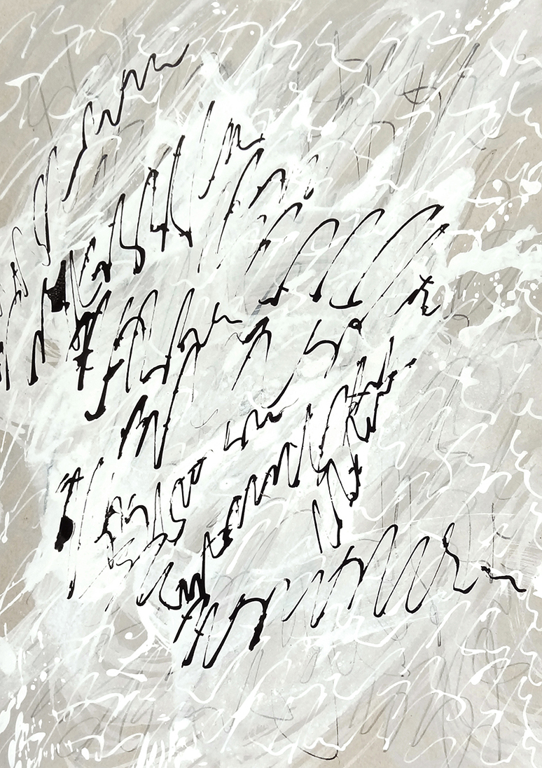 Untitled, 2019 calligraphy ink on paper 29,7 x 21,0 cm (14-19)