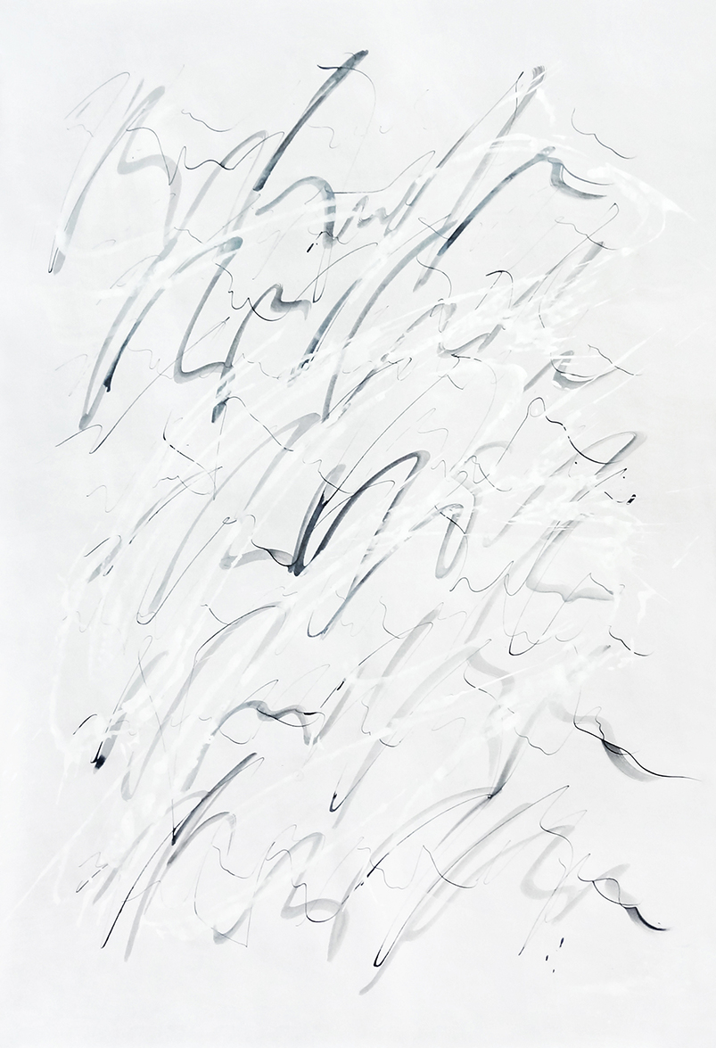 Untitled, 2019 calligraphy ink on paper 84,1 x 59,4 cm (24-19)